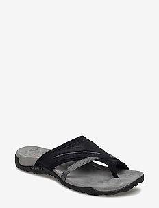 Terran Post II Black - flate sandaler - black