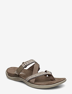 District Mendi Thong Brindle - flate sandaler - brindle