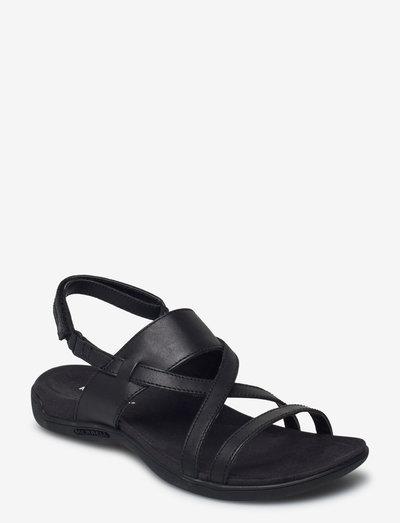 District Hayes Strap LTR Black - flat sandals - black