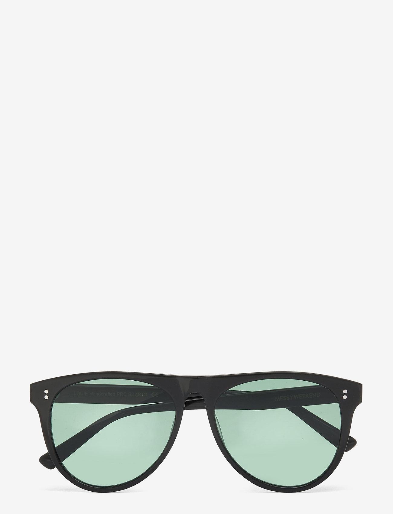 MessyWeekend - LOUIE - d-vormige zonnebril - black - 1