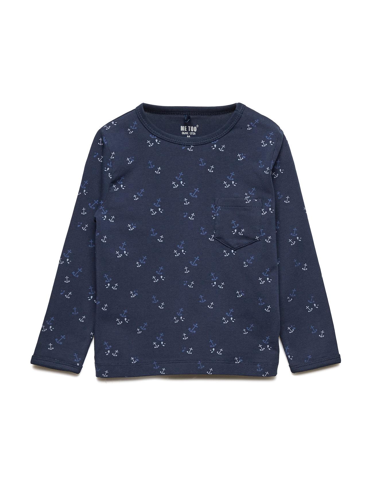 MeToo T-shirt LS AOP - DRESS BLUES