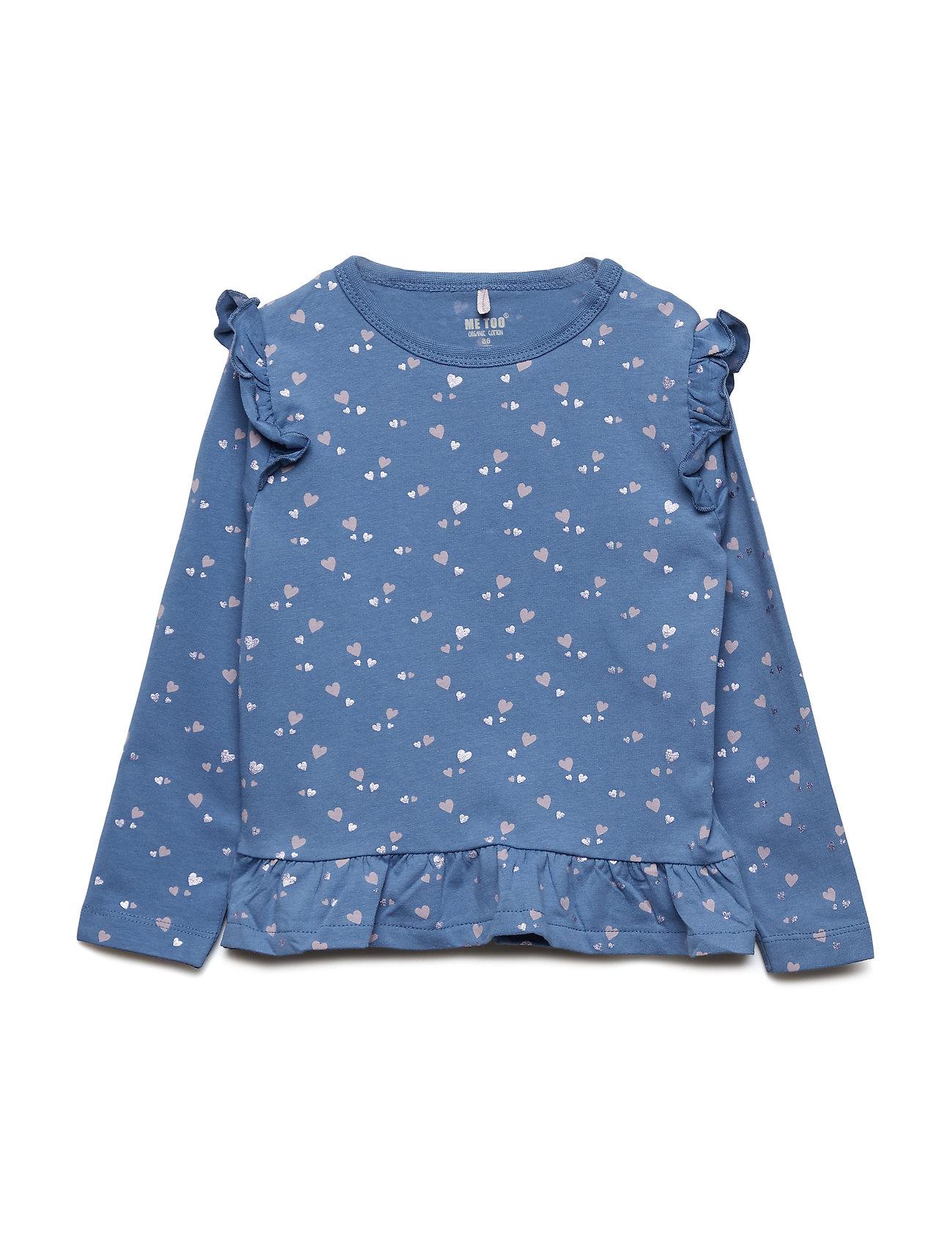 MeToo T-shirt LS AOP - MOONLIGHT BLUE
