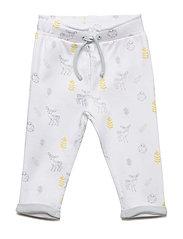 Pants AOP - BRIGHT WHITE