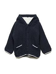 Cardigan Knit Teddy - NAVY NIGHT