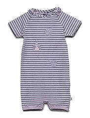 Suit SS Y/D Stripe - ORCHID PETAL