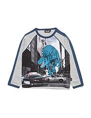 T-shirt LS - GREY MELANGE