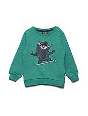 Pullover LS Sweat - GREEN AS CUT