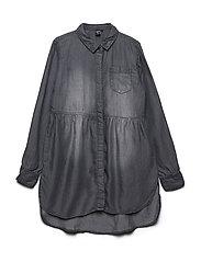 Dress LS Tencel - GREY DENIM