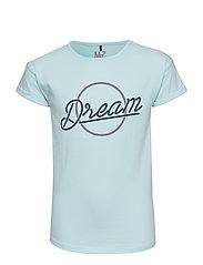 T-shirt SS - BLEACHED AQUA