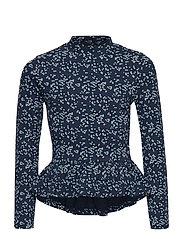 T-shirt LS Dot - DRESS BLUES