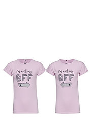 2-Pack T-shirt - BFF - PINK LAVENDER