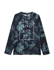 T-shirt LS AOP - NAVY NIGHT