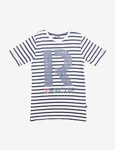 T-shirt SS Stripe - Dress Blues