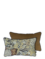 ATELIER cushion, with filling - BIRD/TOBACCO