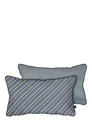 ATELIER cushion, with filling - DIAGONAL BLUE