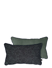 ATELIER cushion, with filling - LEAVES/LIGHT GREEN