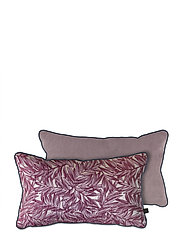 ATELIER cushion, with filling - RED LEAVES/LAVENDER