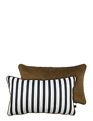 ATELIER cushion, with filling - STRIPE/TOBACCO