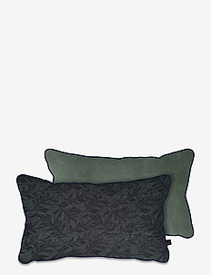 ATELIER cushion, with filling - puder - leaves/light green