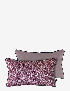 ATELIER cushion, with filling - puder - red leaves/lavender