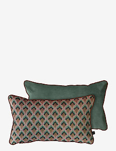 ATELIER cushion, with filling - pynteputer - spectrum/light green