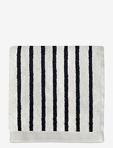 BOUDOIR Wash cloth - håndklæder - black / white, narrow stripe