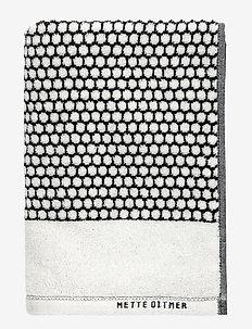 GRID Guest towel - håndklær & badelaken - black/off white