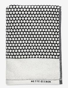 GRID Towel - handdukar - black/off white