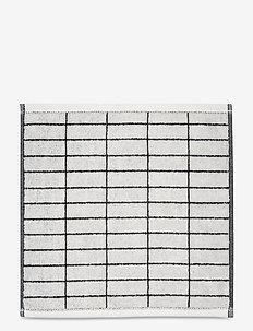 TILE STONE Wash cloth - håndklæder - black/off white