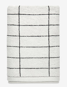 TILE STONE Bath towel - handdukar - black/off white