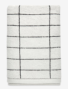 TILE STONE Towel - strandhåndklær - black/off white