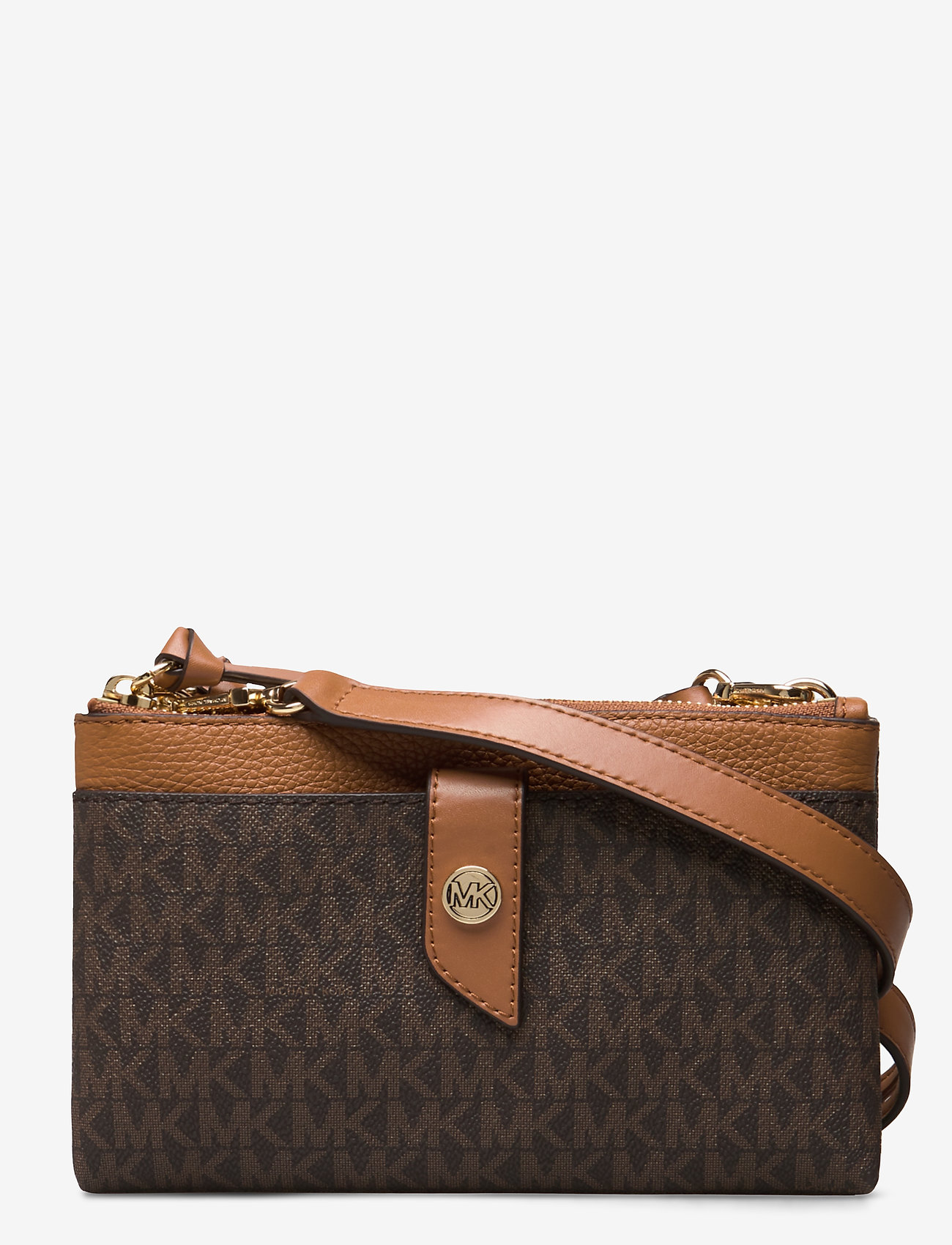 Michael Kors Bags - MD TAB DZP PHN XBODY - shoulder bags - brn/acorn