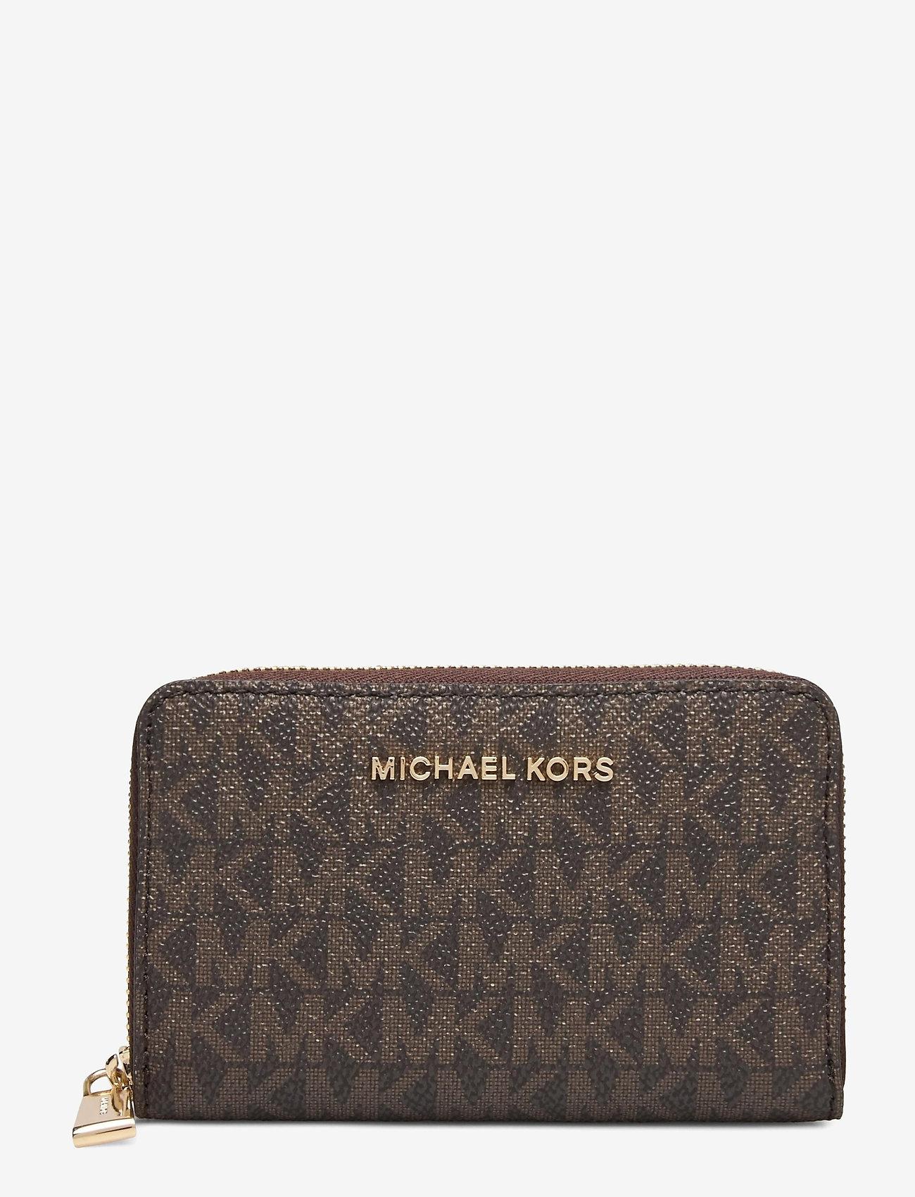 Michael Kors - SM ZA CARD CASE - kaart houders - brn/acorn - 0