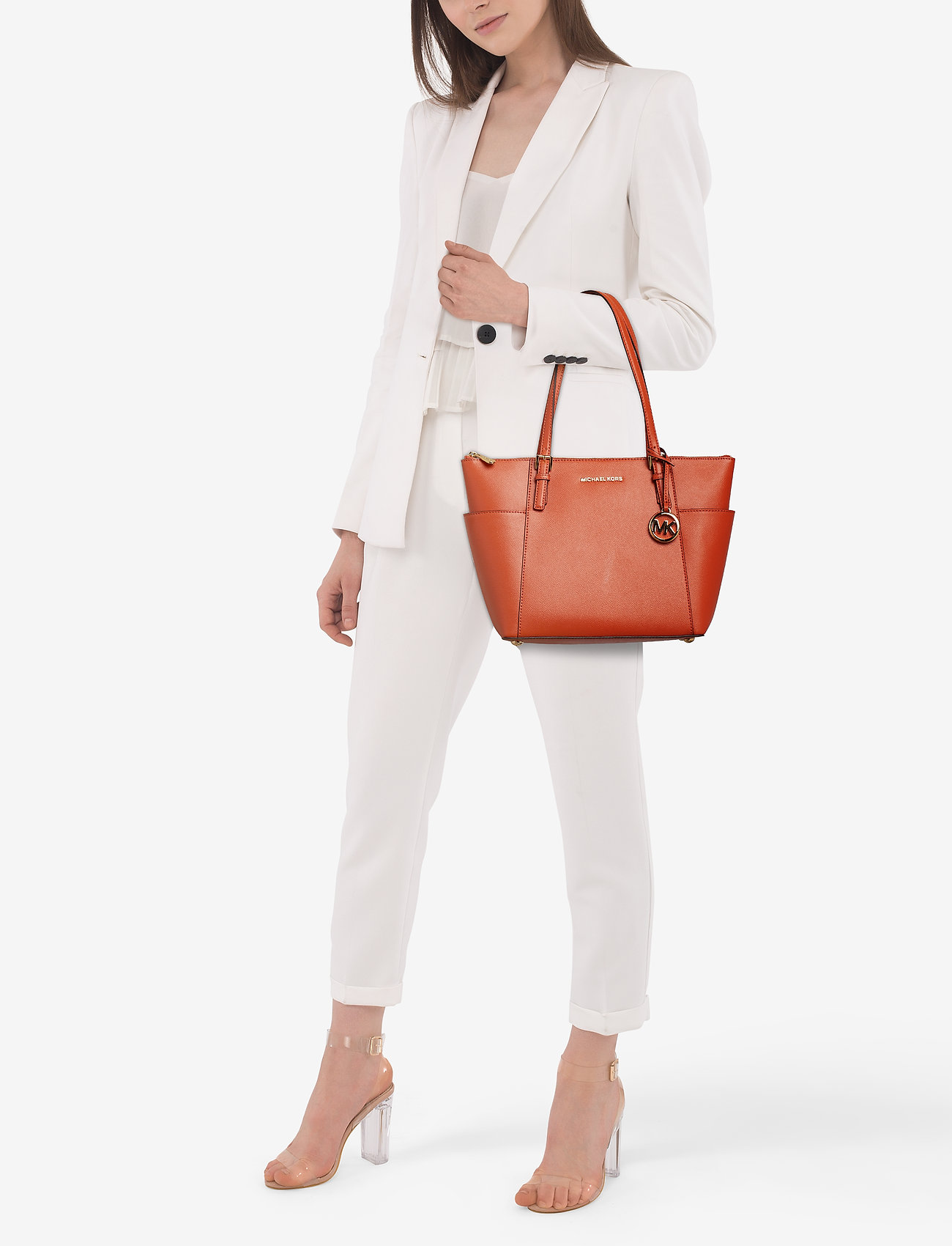 Michael Kors Bags JET SET ITEM EW TZ TOTE - BURNT ORANGE