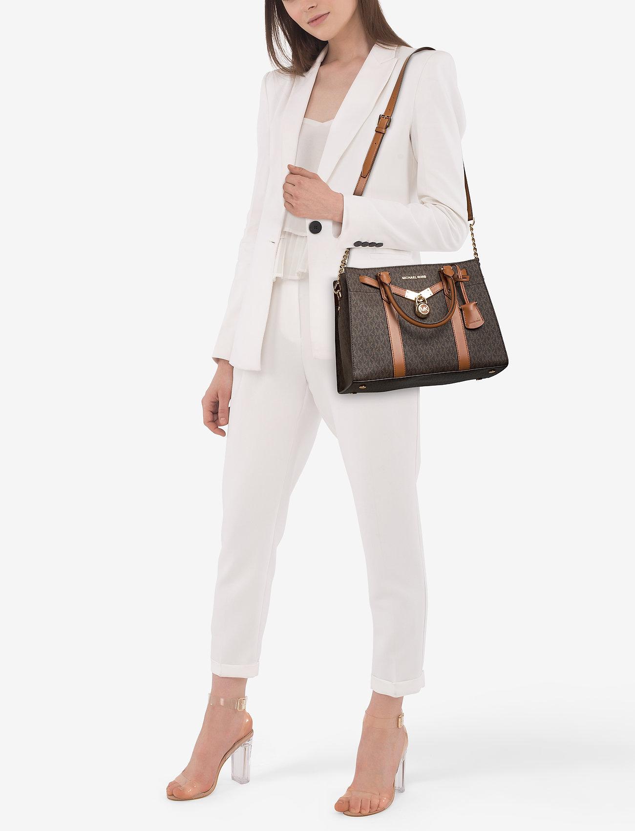 Michael Kors Bags LG SATCHEL - BRN/ACORN