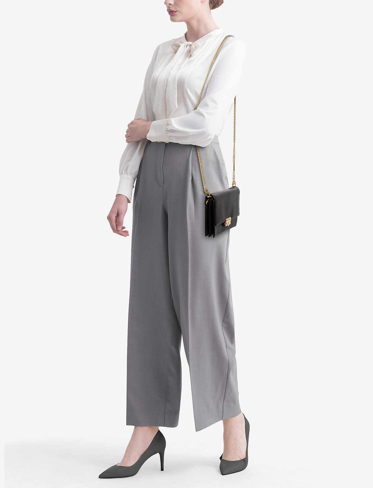 Michael Kors Bags LG CLUTCH XBODY - BLACK