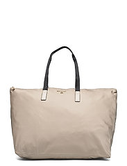 LG PACKABLE TOTE - LT SAND MLTI