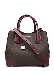 SM CNTR ZIP SATCHEL - OXBLOOD
