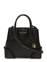 SM CNTR ZIP SATCHEL - BLACK