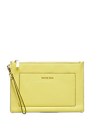 POUCHES & CLUTCHES LG POCKET ZIP POUCH - SUNSHINE