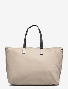 LG PACKABLE TOTE - shoppers - lt sand mlti
