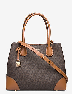 MD CENTER ZIP TOTE - fashion shoppers - brn/acorn
