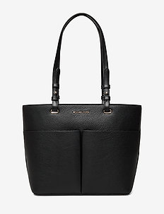 MD TZ POCKET TOTE - fashion shoppers - blk/blk