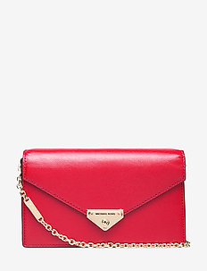 MD ENVELOPE CLUTCH - clutches - bright red