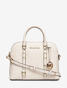 MD DOME SATCHEL - top handle tasker - lt cream