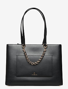 MD RBN CHN TOTE - fashion shoppers - black