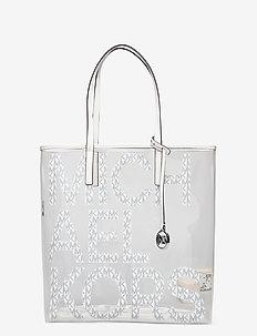 LG NS TOTE - fashion shoppers - brt wht mlt