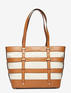 MARIE LG CAGE TOTE - NAT/ACORN