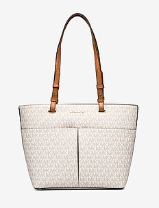 MD TZ POCKET TOTE - fashion shoppers - vanilla/acrn