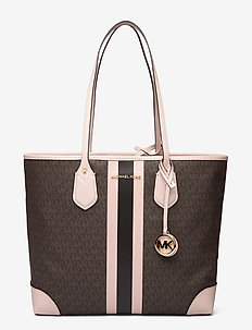 LG TOTE - fashion shoppers - brn/sftpink